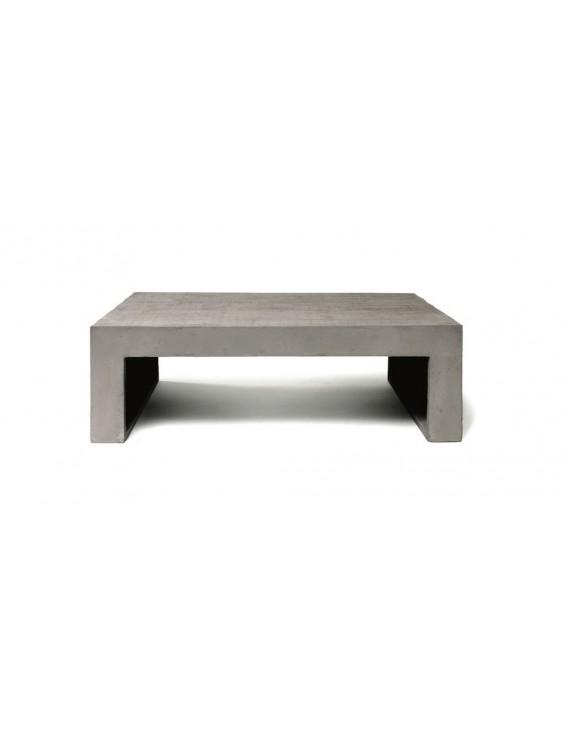 Table basse en beton Formwork 90x60x30. Marque : LYON BETON