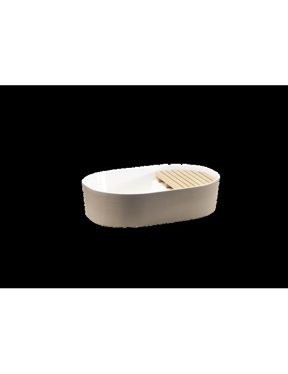 Vasque à poser STEP en céramique émaillée