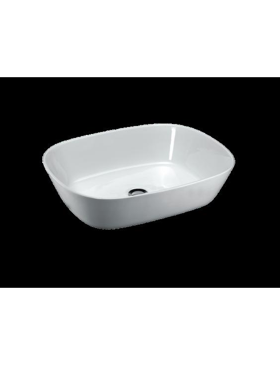 Vasque EGG en céramique émaillée 58xH15xP44