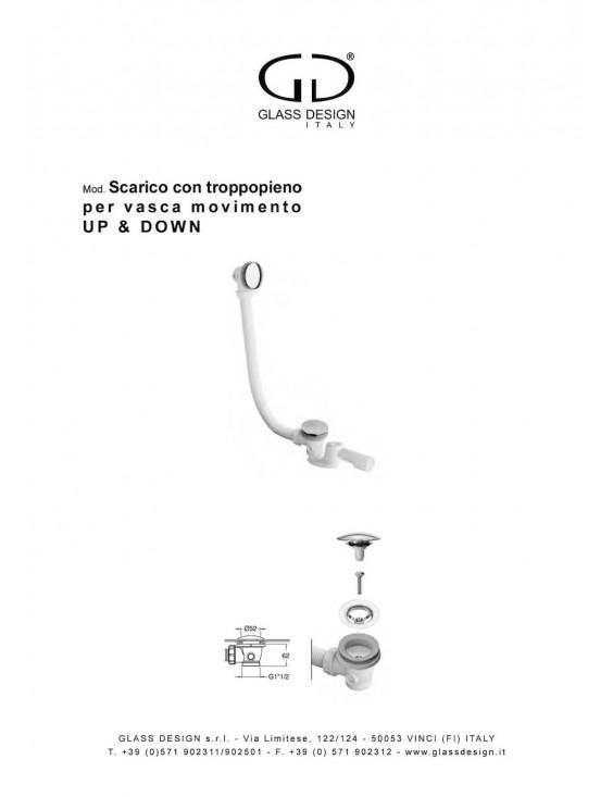 Vidage complet baignoires Glass Design