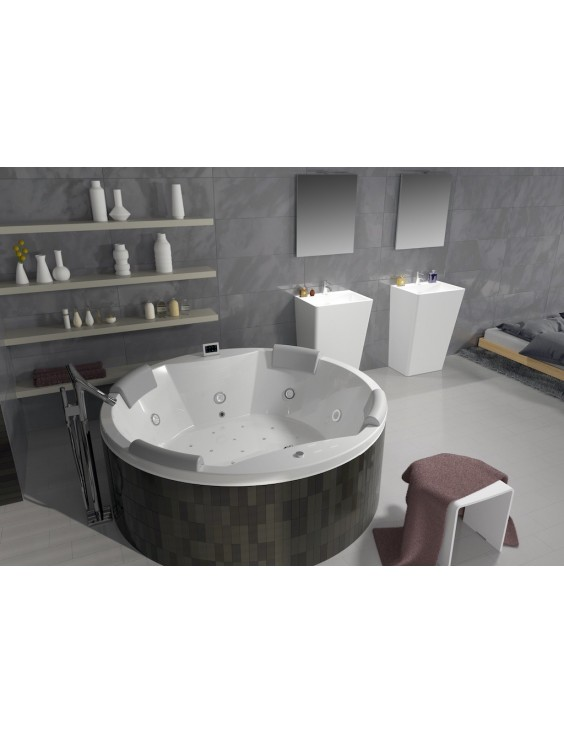 baignoire baln o ronde carmen de la collection thermae by riho. Black Bedroom Furniture Sets. Home Design Ideas