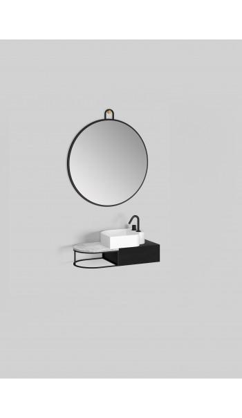 Meuble lavabo à suspendre L83 cm, Nouveau