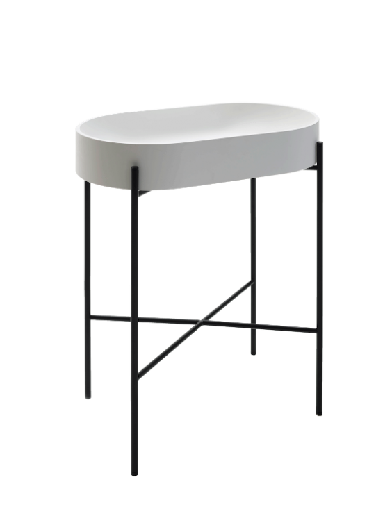 Lavabo Stand oval noir