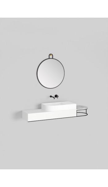 Meuble lavabo à suspendre L153 cm, Nouveau