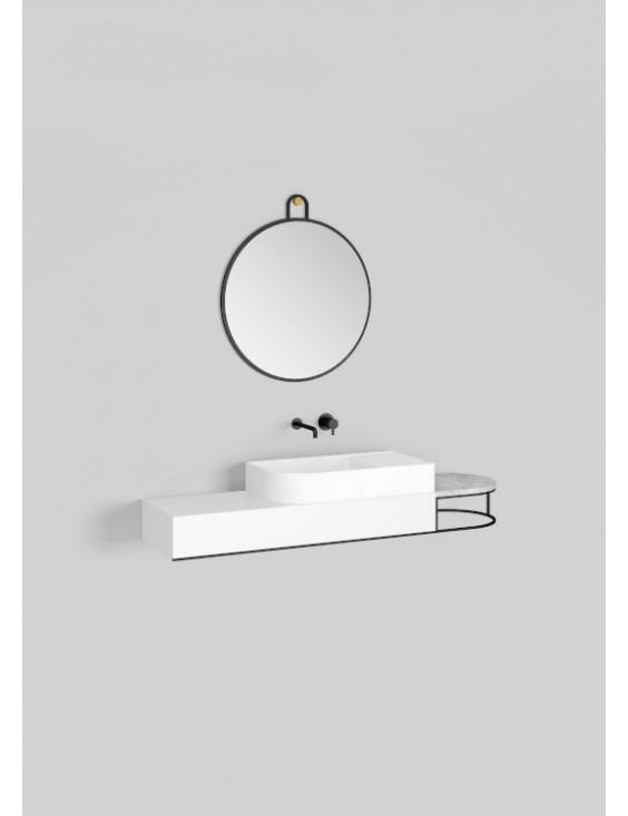 Meuble lavabo à suspendre L108 cm, Nouveau