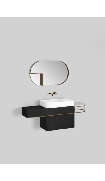 Meuble lavabo à suspendre avec vasque L70 cm, Nouveau