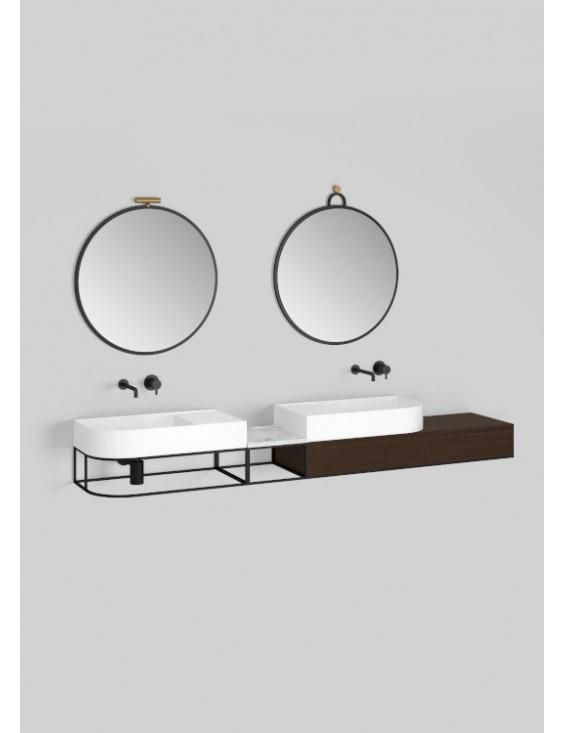 Meuble lavabo double L215 cm, Nouveau