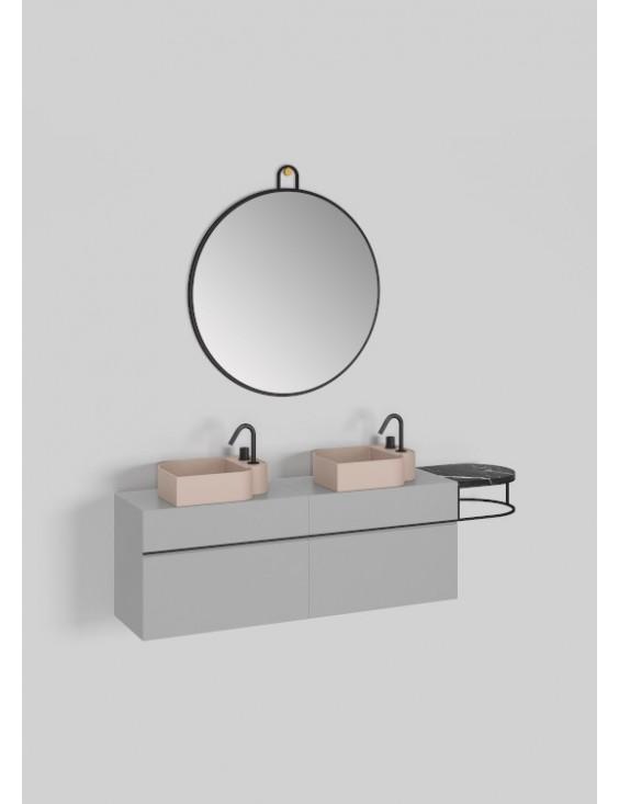 Meuble lavabo double L140 cm, Nouveau