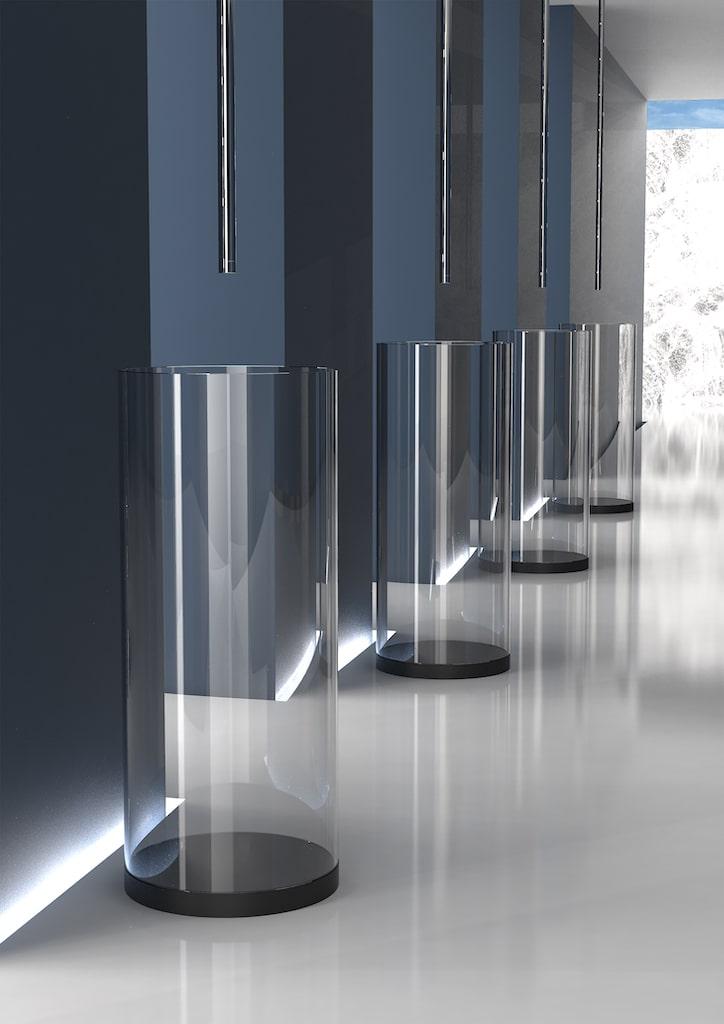Lavabo au sol Xtreme XL, de Glass Design