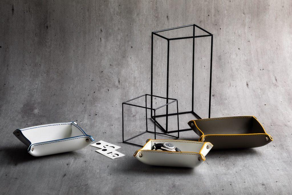 Accessoires de salle de bain en cuir Limac Design