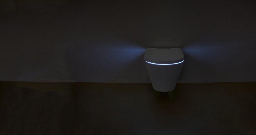 WC lavant Axent One Plus. Fonction de nuit