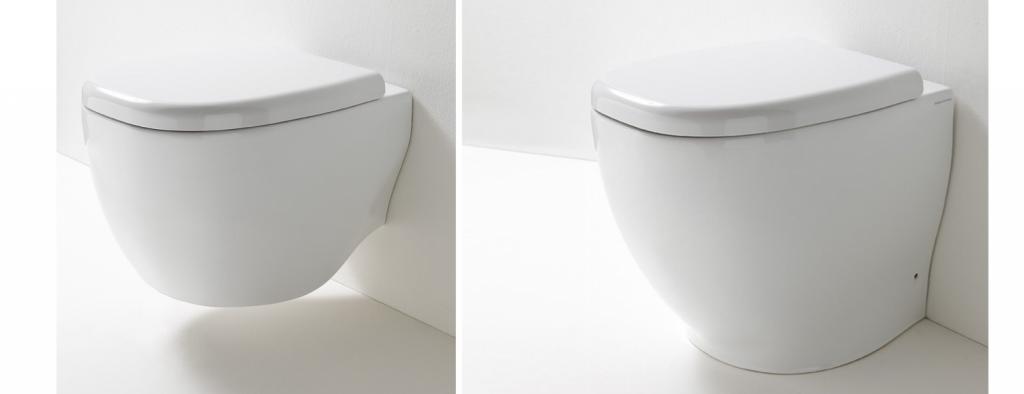 WC suspendu About et WC au sol About de Rexa Design